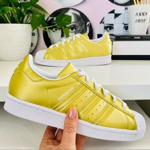 New Adidas superstar gold shoes